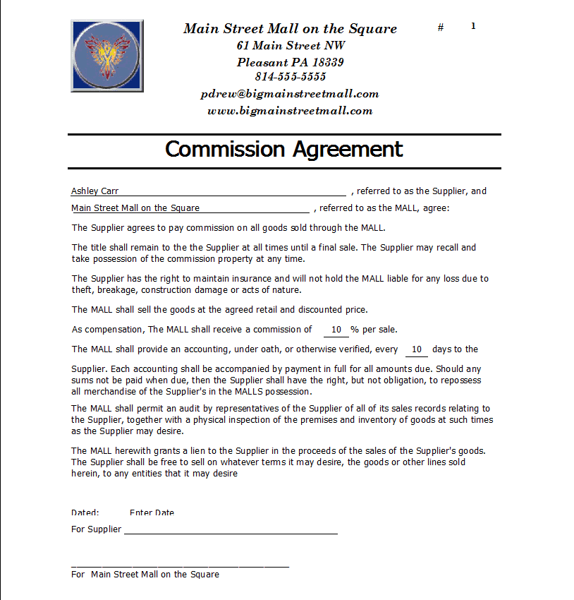 Mission Agreement Templates Find Word Templates