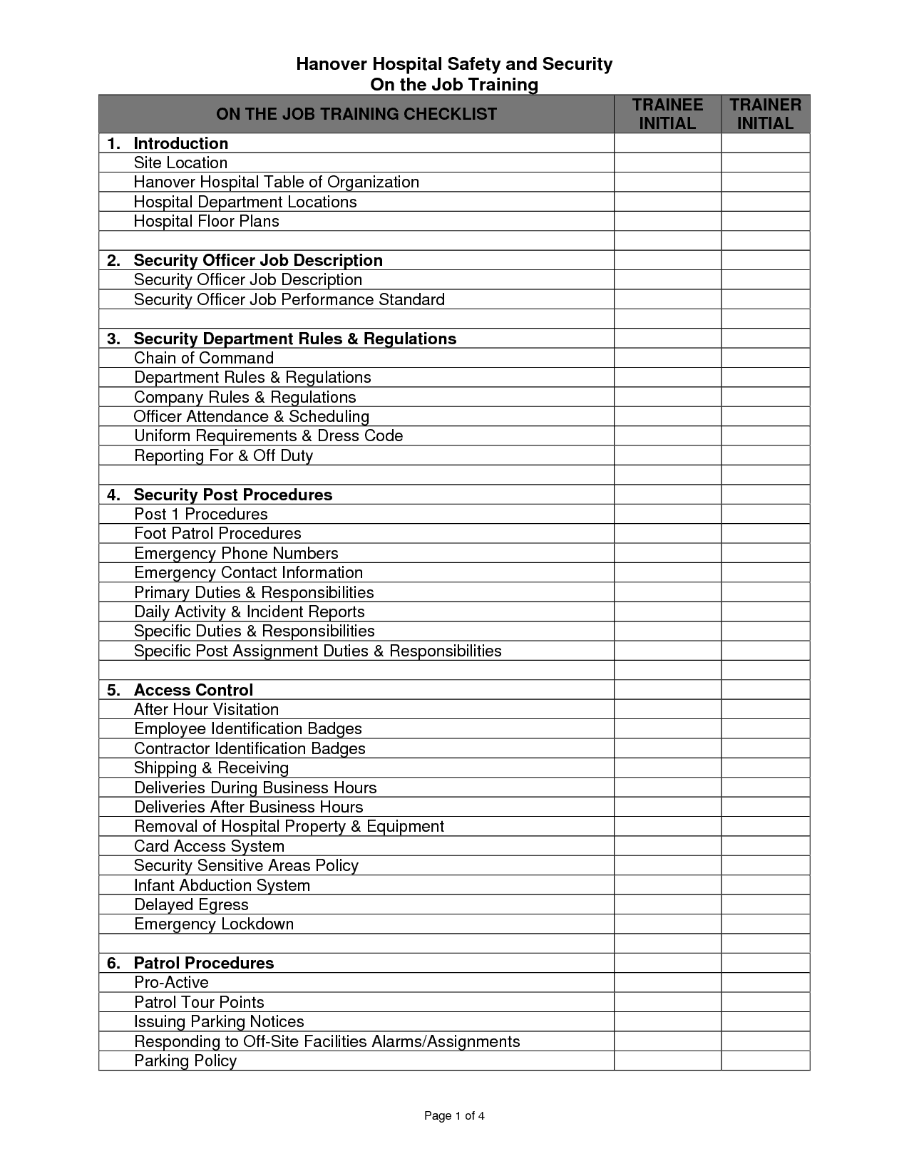 Employee Checklist Template Excel from www.findwordtemplates.com