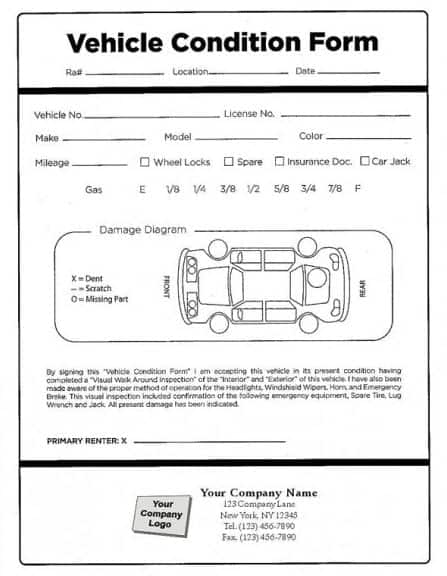 photograph relating to Free Printable Vehicle Condition Report Template identify 8+ Motor vehicle Scenario Article Templates - Term Excel Fomats
