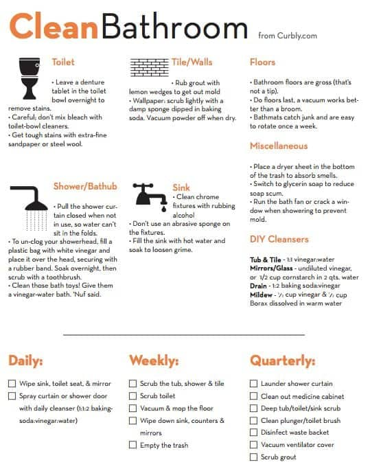 6 Toilet Cleaning Checklist Templates Word Excel Fomats