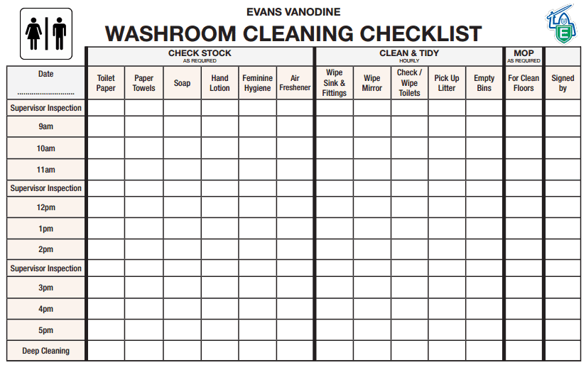 6 Toilet Cleaning Checklist Templates - Word Excel Fomats
