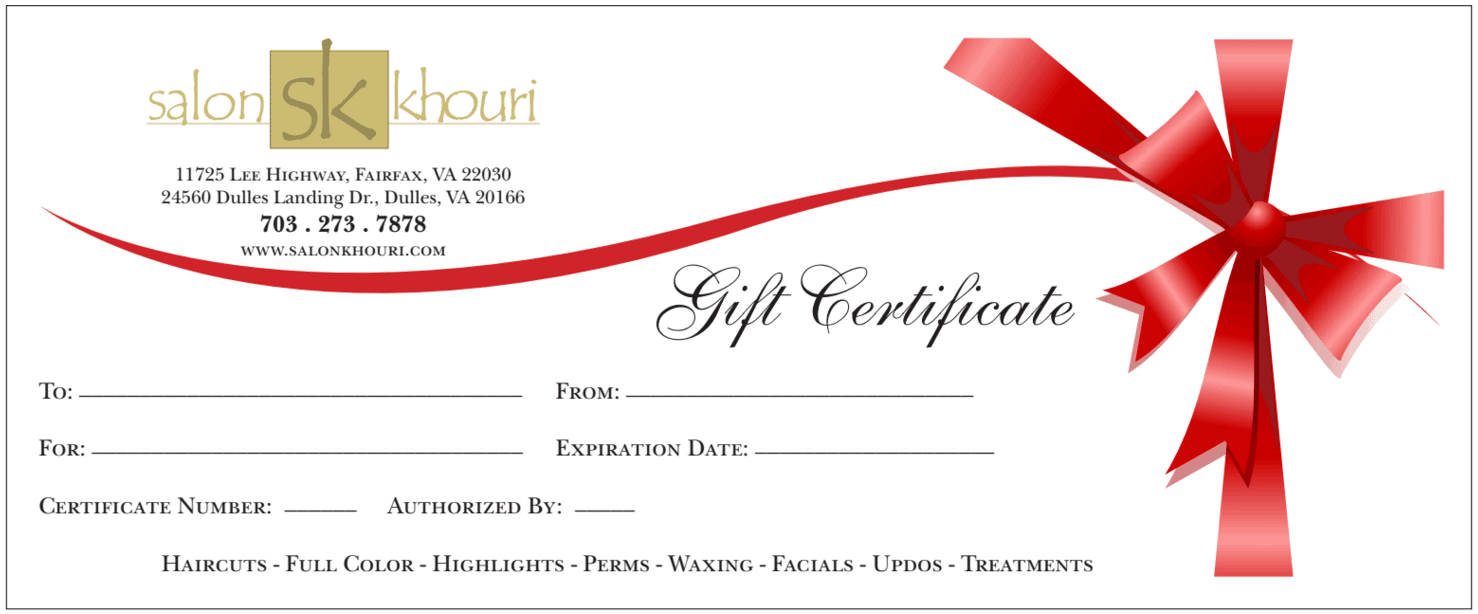 Gift Certificate Templates Word Excel Fomats