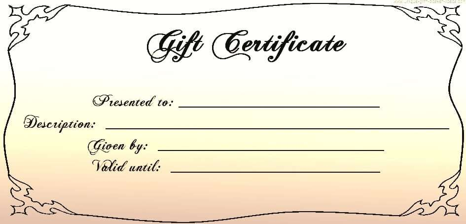 Gift Certificate Templates - Word Excel Fomats