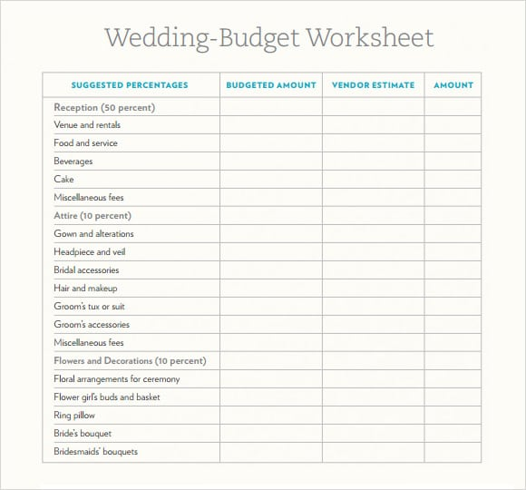 Wedding Budget Spreadsheet.Wedding Budget Spreadsheets Word Excel Fomats